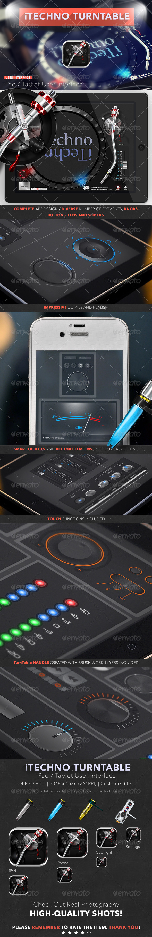 iTechno TurnTable 2 - User Interfaces Web Elements