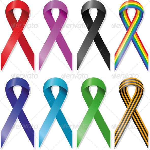 Awareness Ribbons - Decorative Symbols Decorative