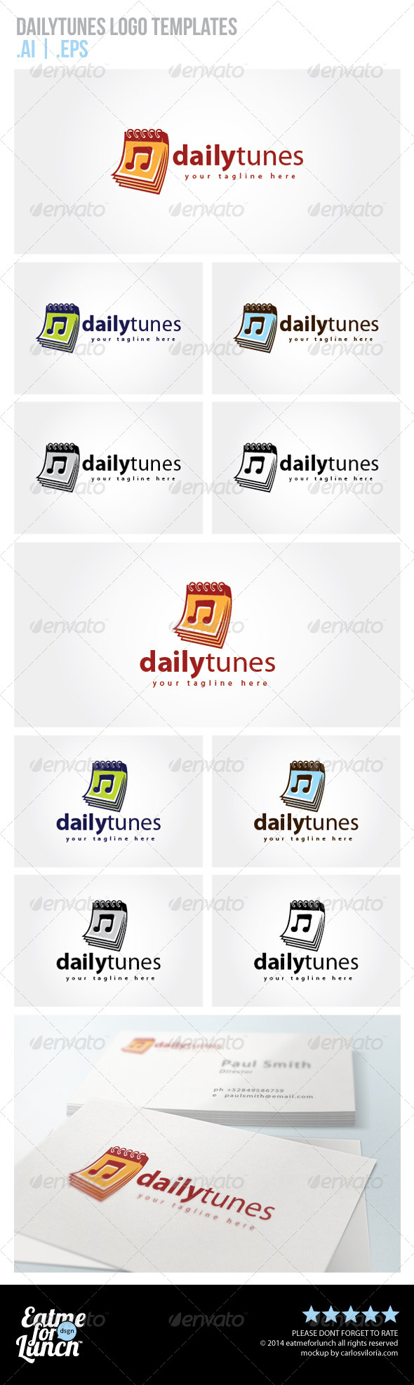 Daily Tunes Logo Templates - Objects Logo Templates