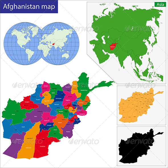 Afghanistan Map - Travel Conceptual