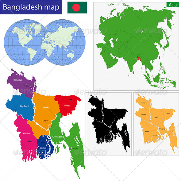 Bangladesh Map - Travel Conceptual
