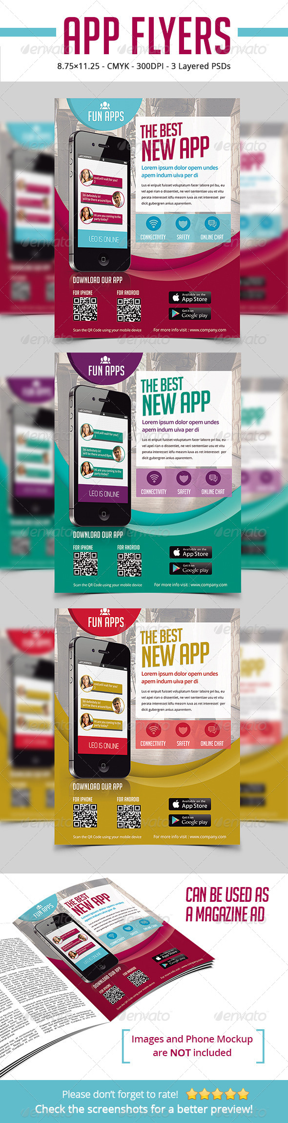 App Flyers / Magazine Ads - Commerce Flyers