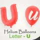 Balloons With Letter – U - VideoHive Item for Sale