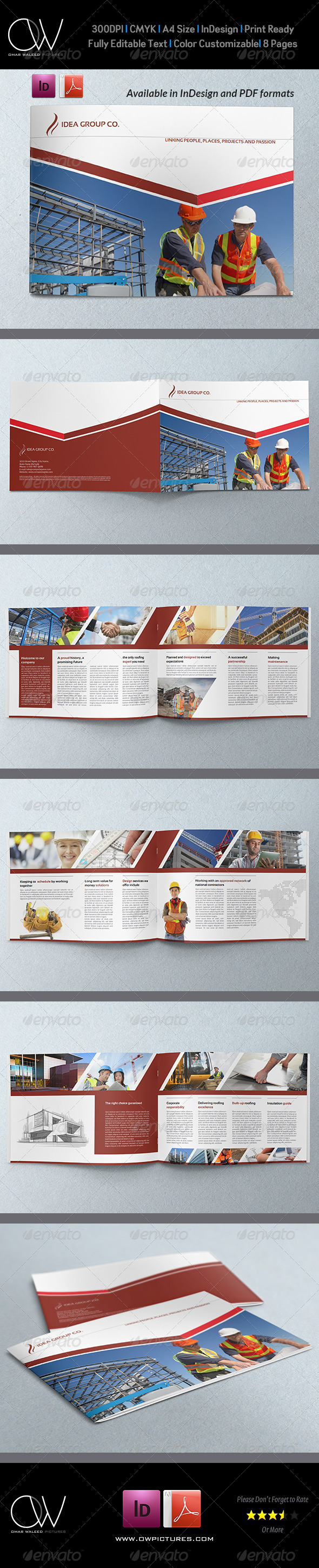 Corporate Brochure Template Vol.24 - 8 Pages - Corporate Brochures