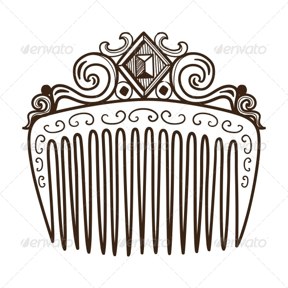 Comb with Decorations. - Miscellaneous Vectors