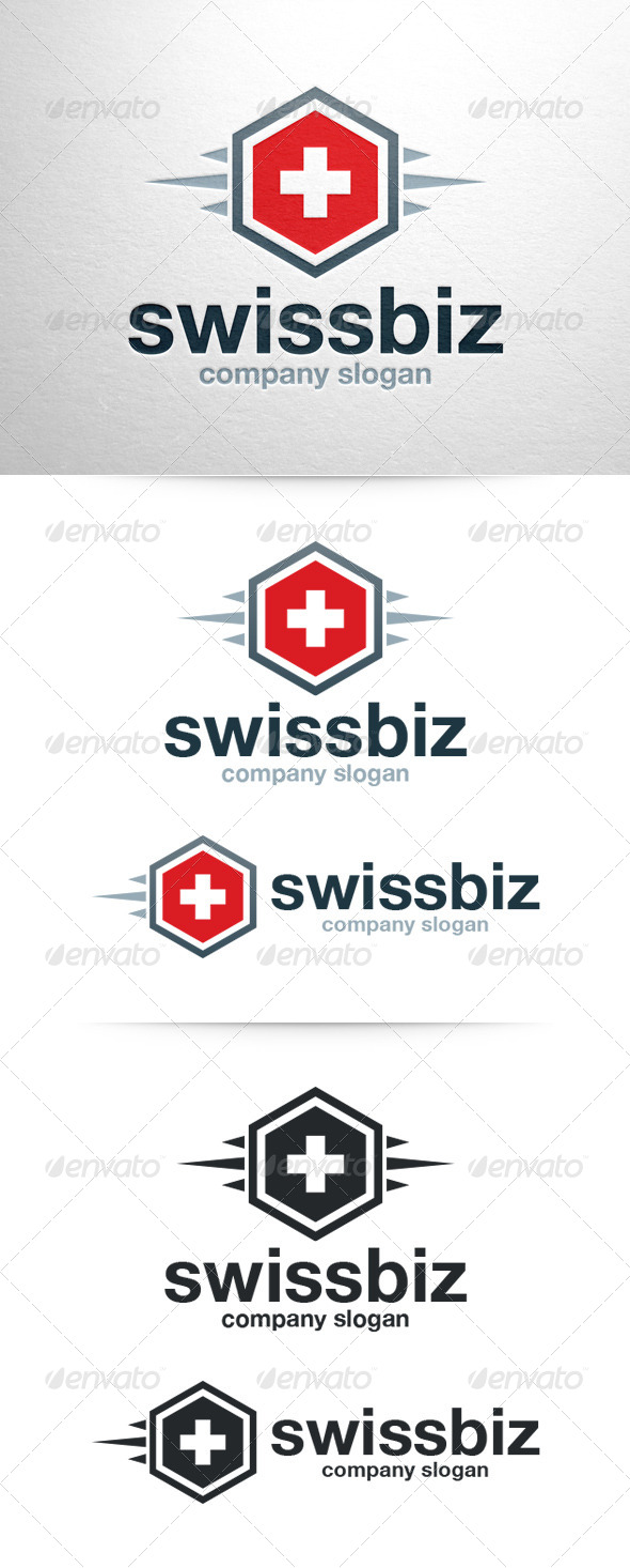 Swiss Biz Logo Template - Symbols Logo Templates