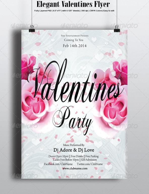 Elegant Valentines Flyer