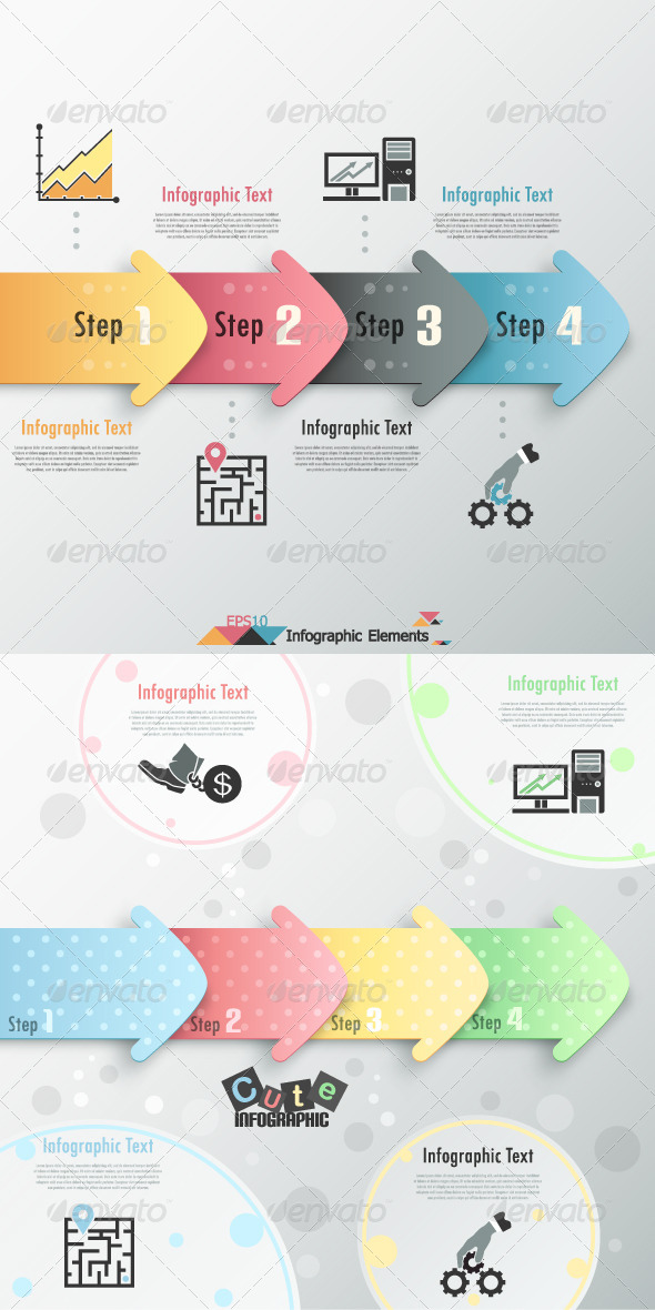 Modern Infographic Options Banner (Two Versions)