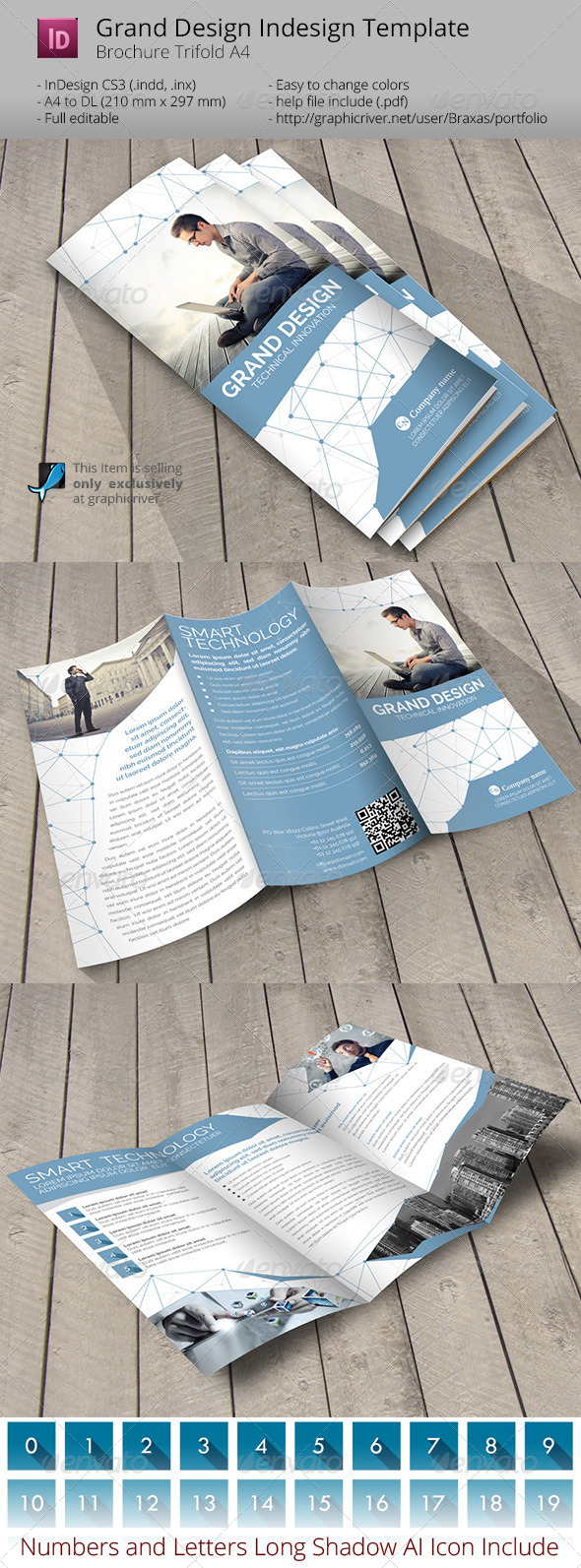 Grand Design Trifold Indesign Template - Informational Brochures