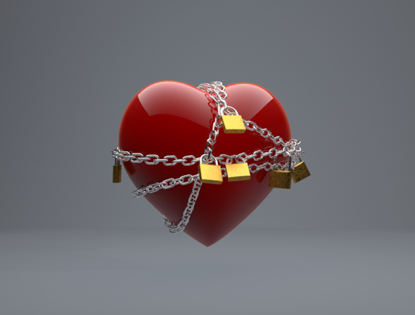 Chained Heart - 3DOcean Item for Sale
