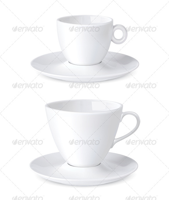 Cup Coffee Isolated on White - Man-made Objects Objects