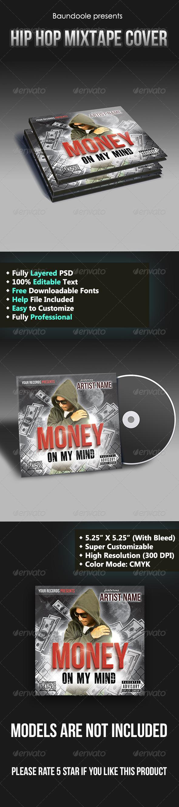 Hip Hop Mixtape Cover Template - CD & DVD Artwork Print Templates