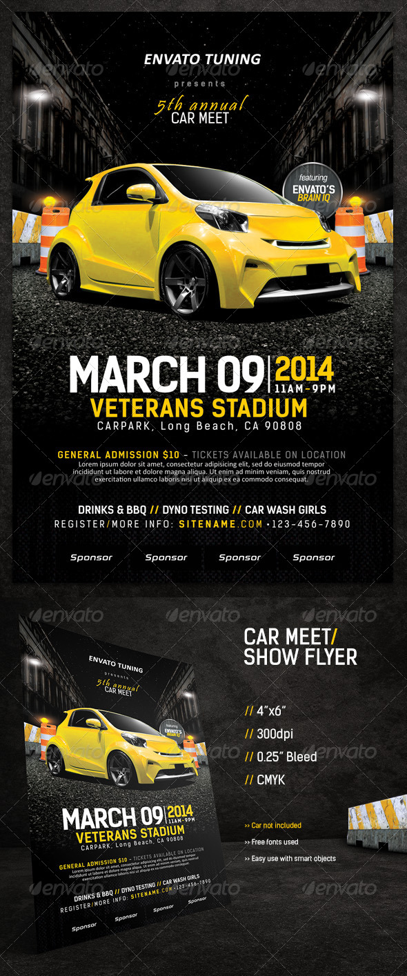 Car Meet & Show Flyer - Events Flyers