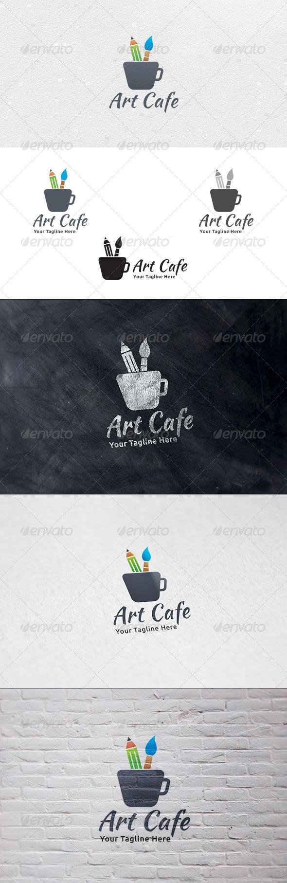 Art Cafe - Logo Template - Symbols Logo Templates