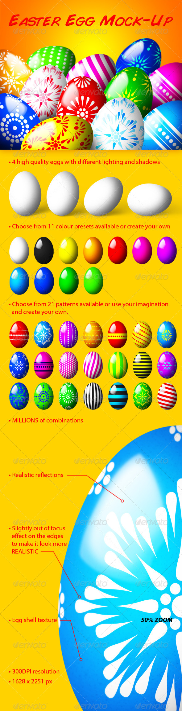 Easter Egg Mock-Up - Miscellaneous Print