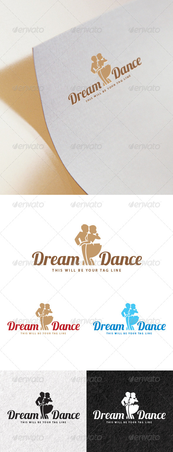 Logo of a Couple Dancing - Humans Logo Templates