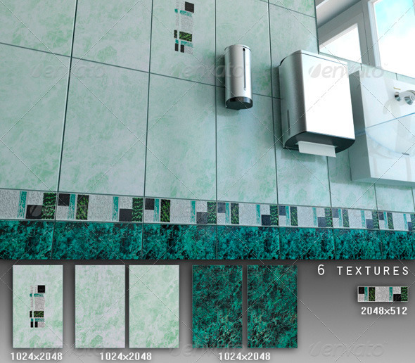 Professional Ceramic Tile Collection C074 - 3DOcean Item for Sale