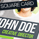 Square fresh Business Card with Personal Photo - GraphicRiver Item for Sale