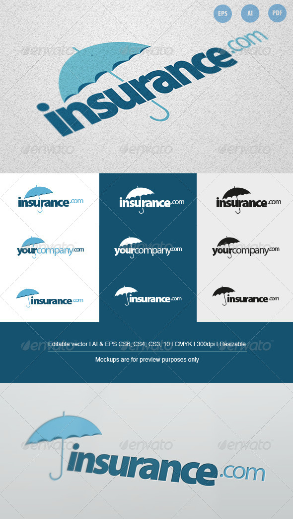 Insurance Company Logo - Company Logo Templates