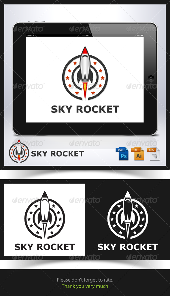 Sky Rocket Logo - Objects Logo Templates
