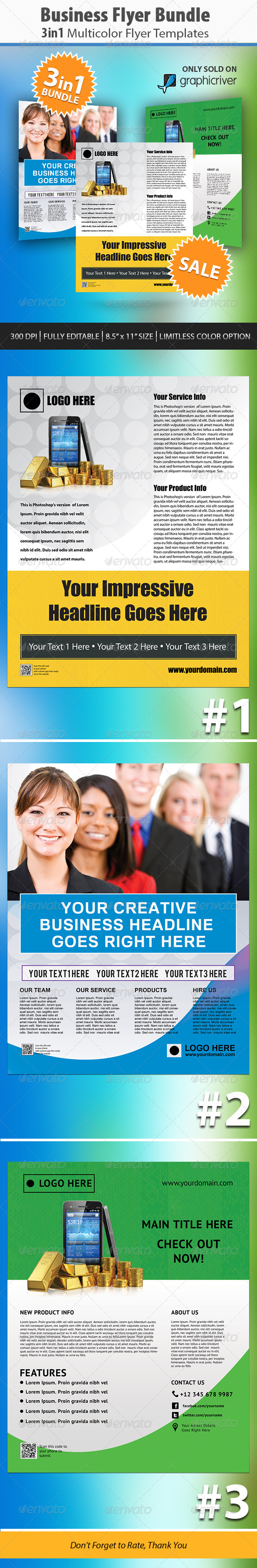 Colorful Corporate Business Flyer Bundle - Corporate Flyers