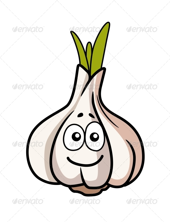 Garlic Bulb Smiling - Food Objects