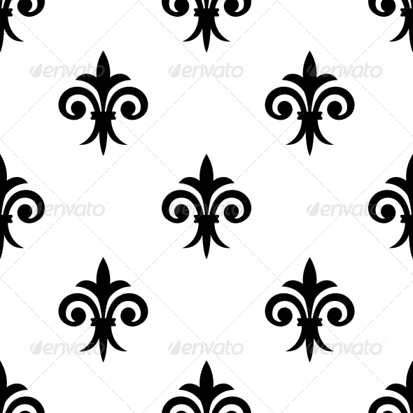 Fleur de Lys Seamless Pattern  - Patterns Decorative