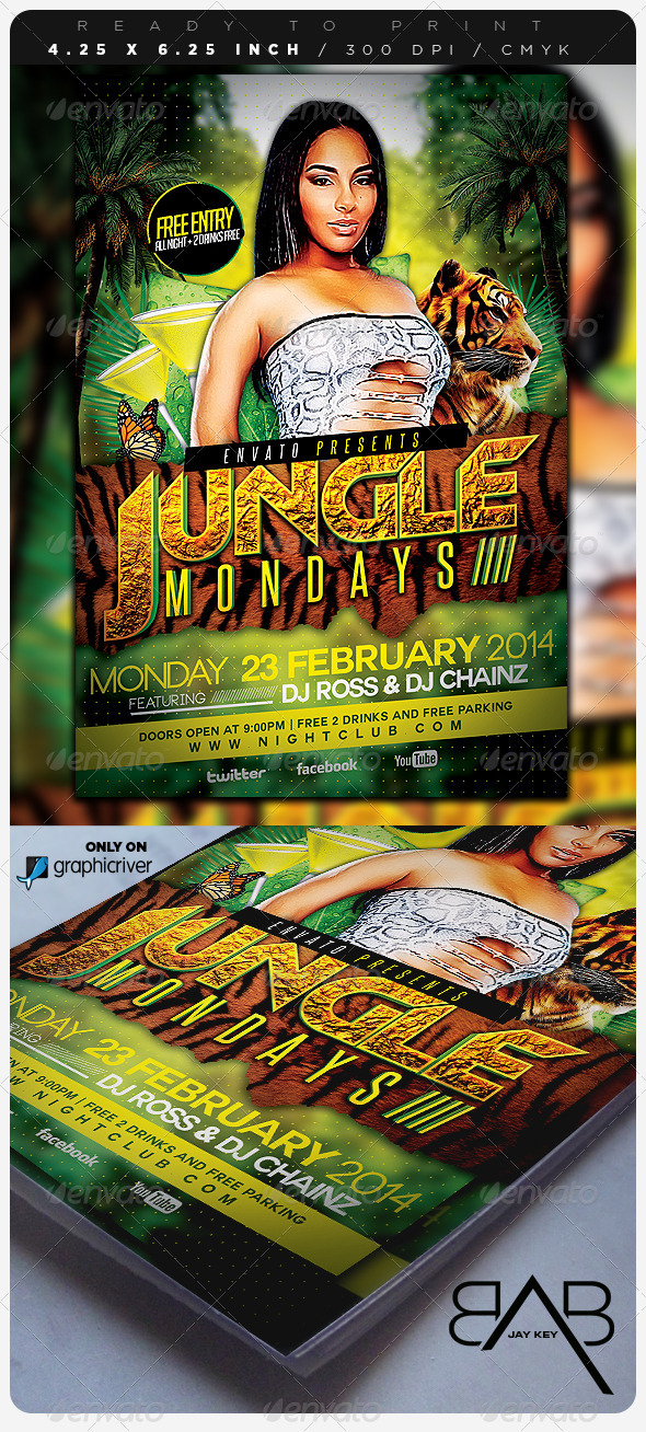 Jungle Days Party Flyer - Events Flyers