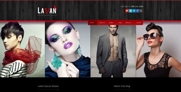 Lavan – Fashion Model Agency WordPress CMS Theme