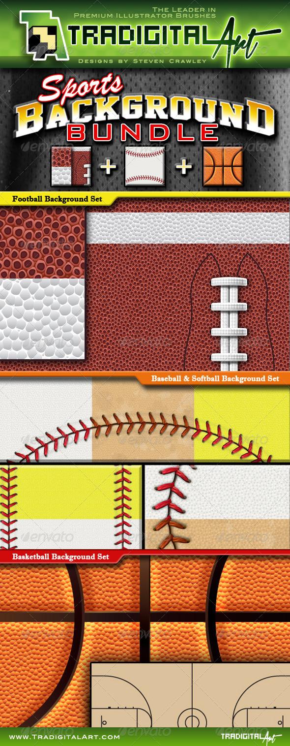 Sports Background Bundle - Backgrounds Decorative