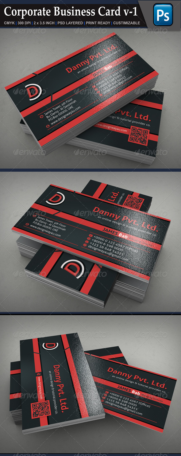 Corporate Business Card v-1 - Corporate Business Cards