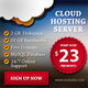 Cloud Hosting Banner Ads Design - GraphicRiver Item for Sale