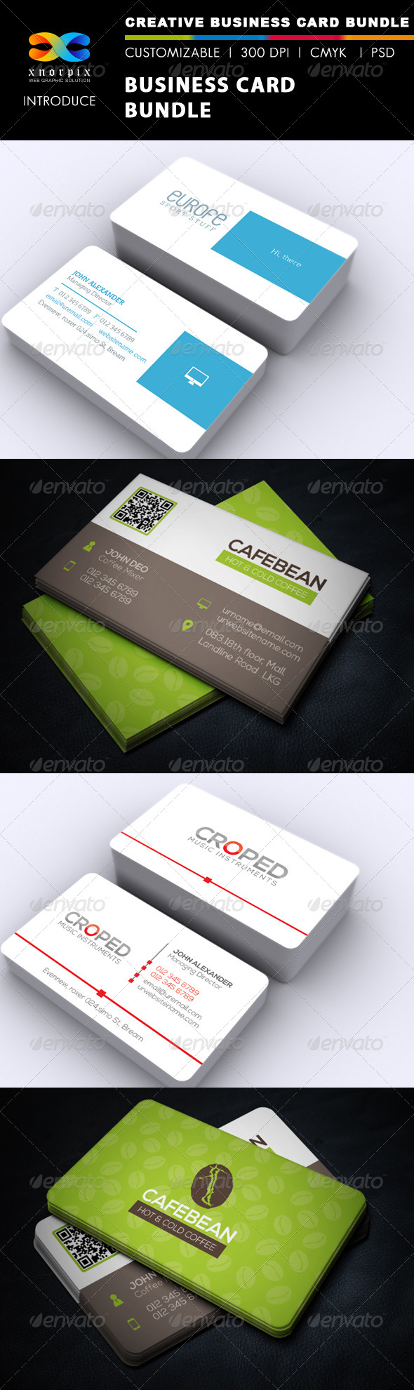 Business Card Bundle 3 in 1-Vol 34 - Corporate Business Cards