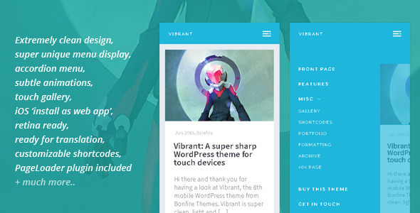 Image of Vibrant: A Super Sharp WordPress Mobile Theme