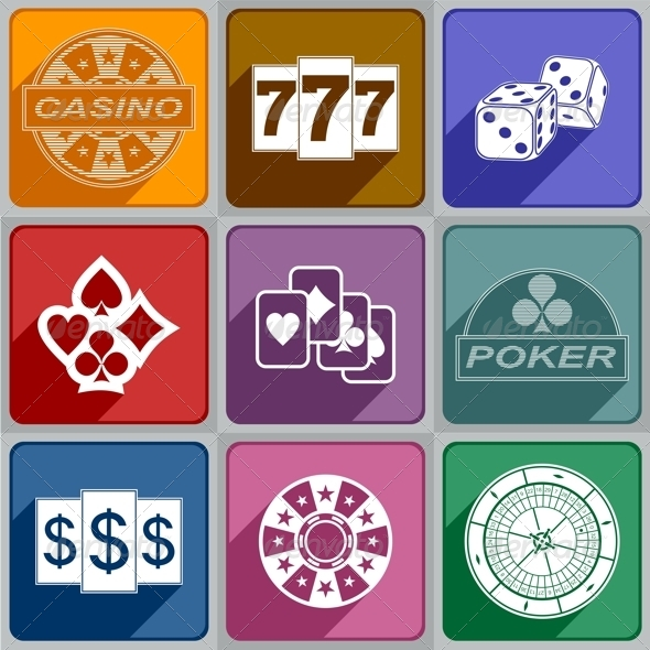Icons Casino - Decorative Symbols Decorative