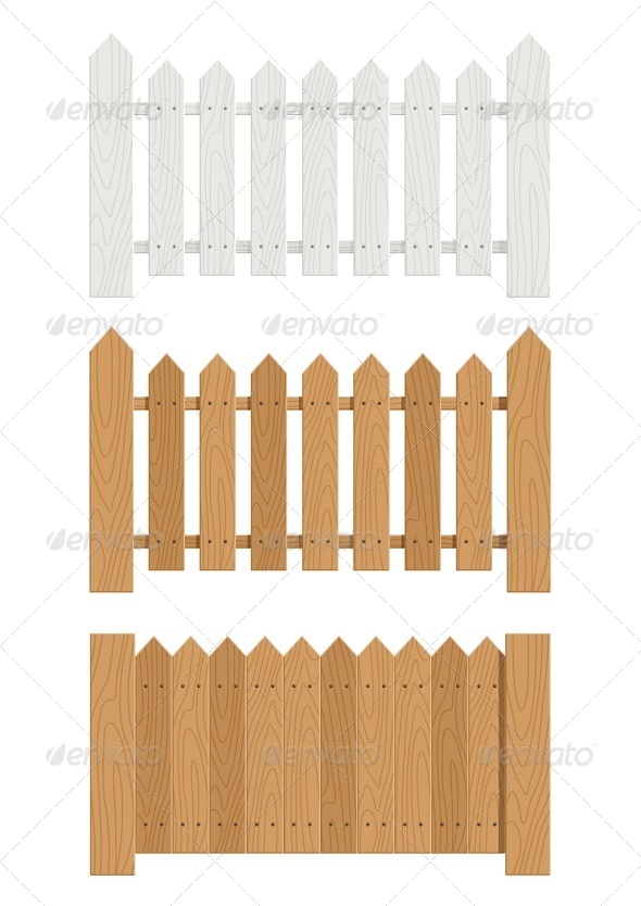 Wooden Fence - Man-made Objects Objects