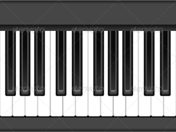 Piano Keys - Objects Vectors
