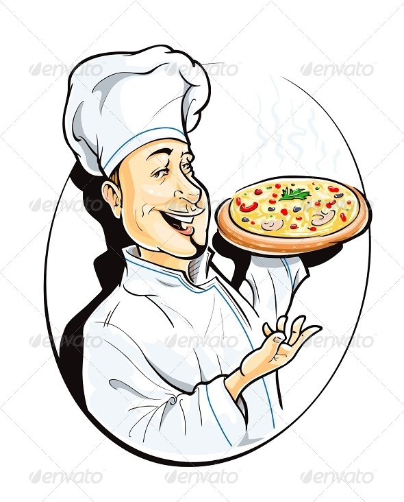 Cook with Pizza - People Characters