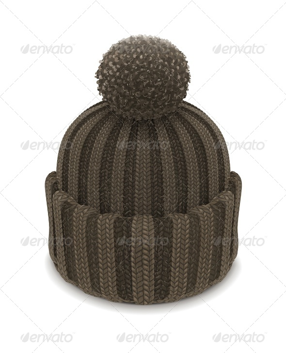 Winter Knitted Bubble Hat - Man-made Objects Objects