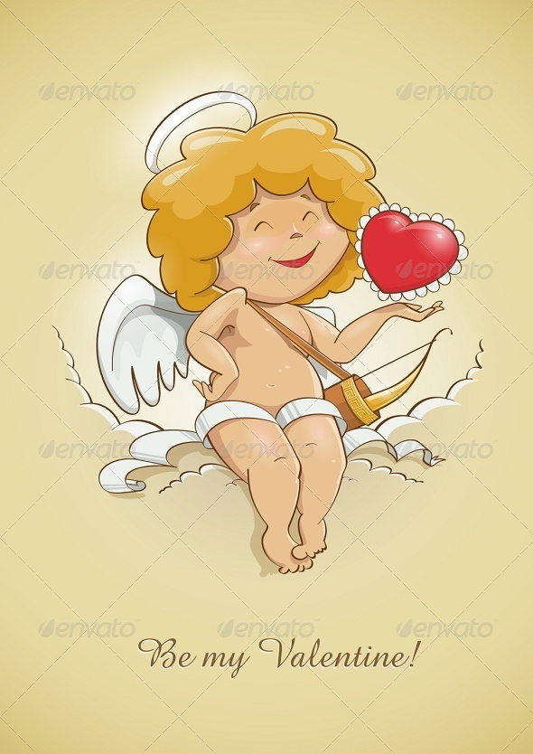 Angel Cupid for Valentine's Day - Valentines Seasons/Holidays