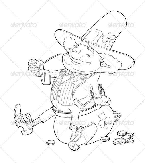 Elf Leprechaun Smoking Pipe For Saint Patrick's - Miscellaneous Seasons/Holidays