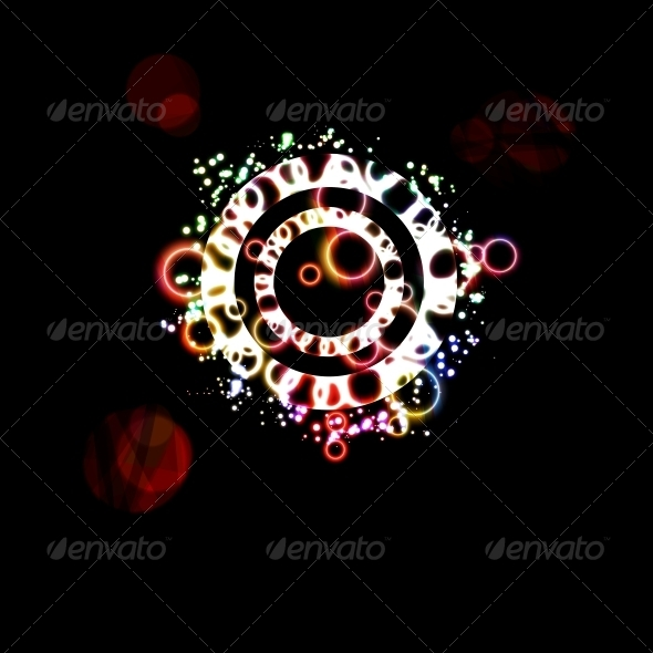 Abstract Background with Colorful Bubbles - Abstract Conceptual