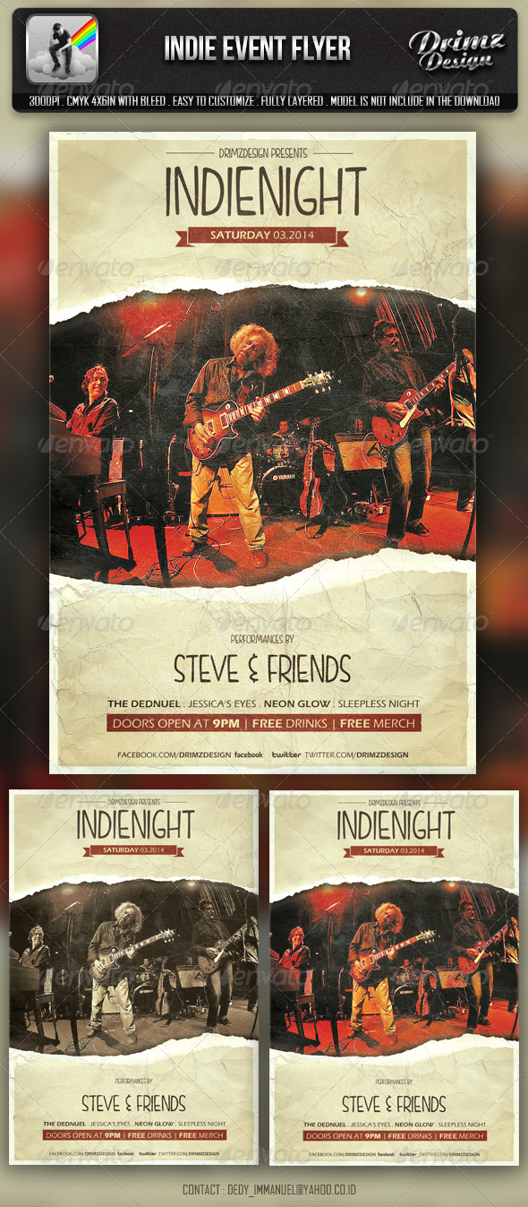 Indie Event Flyer - Events Flyers