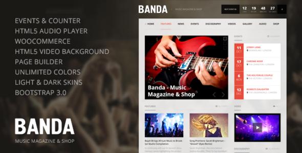 Banda – HTML5 Music Magazine
