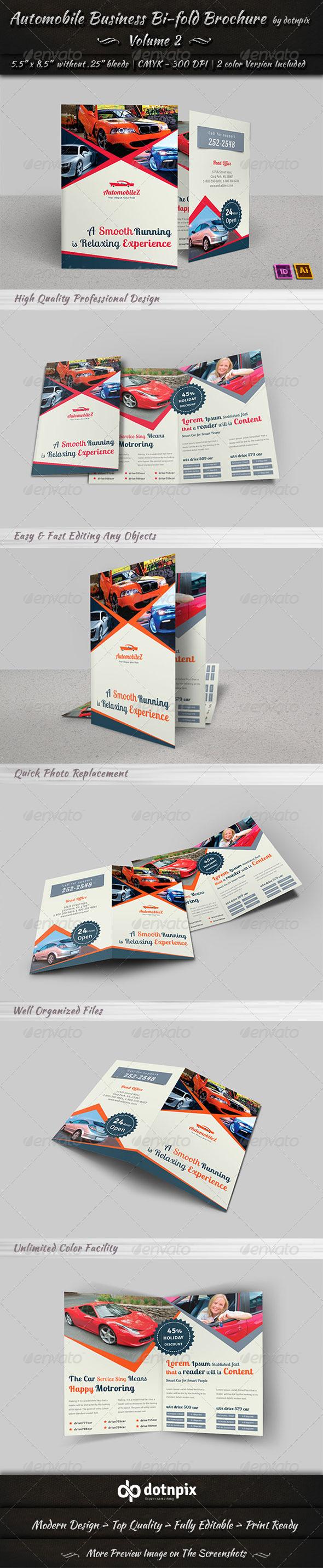 Automobile Business Bi-Fold Brochure | Volume 2 - Corporate Brochures