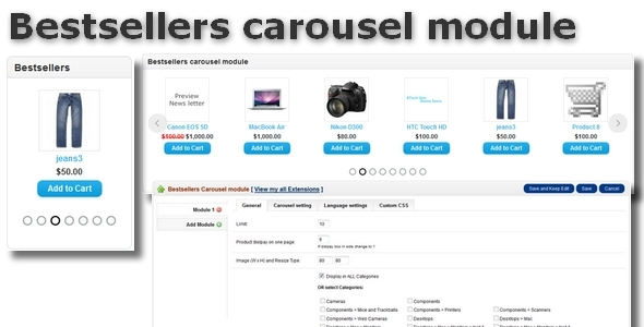 Get nulled Bestsellers carousel module for OpenCart