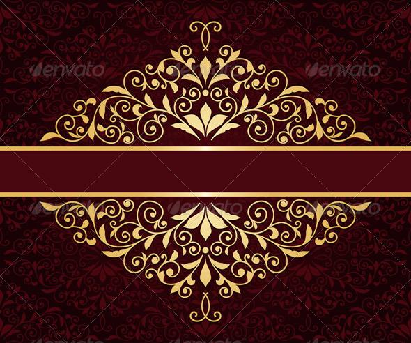 Golden Frame - Patterns Decorative