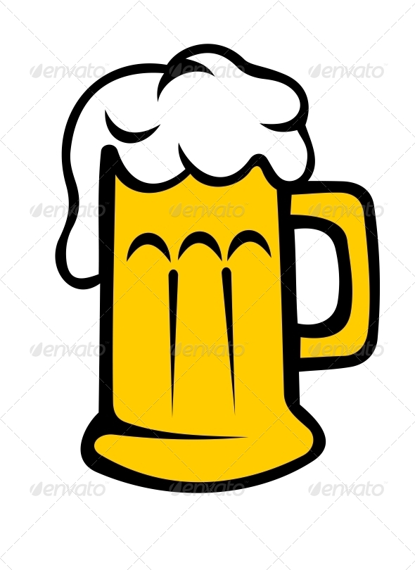 Frothy Tankard of Beer or Lager - Food Objects