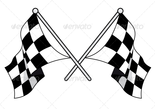 Checkered Flags - Sports/Activity Conceptual