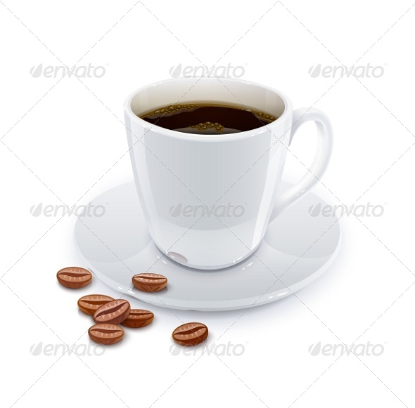 Cup of Coffee with Grain. - Miscellaneous Vectors